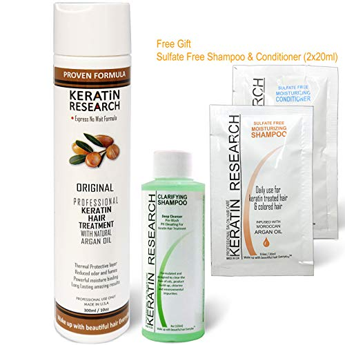 Brazilian Professional Keratin Hair Blowout Treatment with Clarifying Shampoo Sulfate Free Starter Kit Voted Best By Keratin Research Queratina Keratina Brasilera Tratamiento