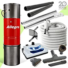 Allegro Central Vacuum MU4100 3,000 sq. ft. Unit, Electric Powerhead Hose Package