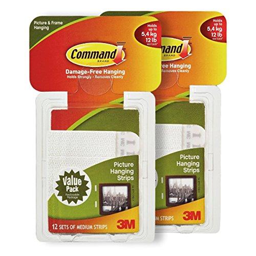 - Command Adhesive Picture Hanging Strips Medium Capacity 24pk