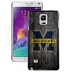 Beautiful And Popular Designed With Ncaa Big Ten Conference Football Michigan Wolverines 8 Protective Cell Phone Hardshell Cover Case For Samsung Galaxy Note 4 N910A N910T N910P N910V N910R4 Black