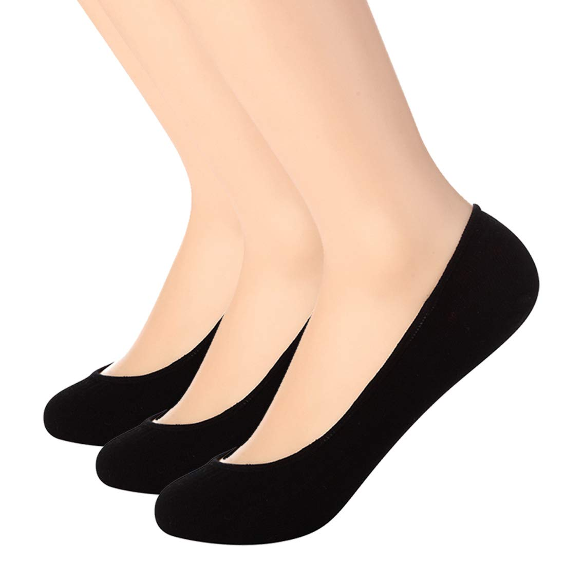 b4237661eb9 Ultra Low Cut Liner Socks Women No Show Non Slip Hidden Invisible for Flats  Boat Summer 3 Pairs at Amazon Women s Clothing store