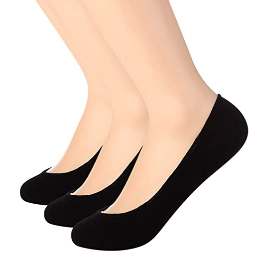 50ad6a2f5a Ultra Low Cut Liner Socks Women No Show Non Slip Hidden Invisible for Flats  Boat Summer