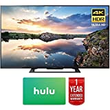 Sony 60-Inch 4K Ultra HD Smart LED TV 2017 Model (KD60X690E) with 1 Year Extended Warranty & Hulu $25 Gift Card
