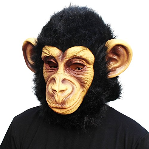 CreepyParty Novelty Halloween Costume Party Animal Head Mask Chimp