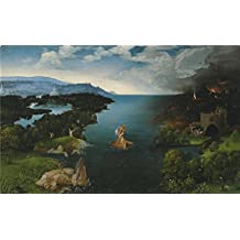 The High Quality Polyster Canvas Of Oil Painting 'Patenier Joachim Crossing The River Styx 1515 24 ' ,size: 18 X 29 Inch / 46 X 74 Cm ,this Best Price Art Decorative Prints On Canvas Is Fit For Basement Artwork And Home Artwork And Gifts