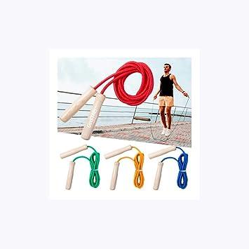 Comba de Colores con Mango en Madera. Lote 10 Unidades. Saltador para Adultos y niños. para Regalar en cumpleaños y Fiestas Infantiles..: Amazon.es: Juguetes y juegos