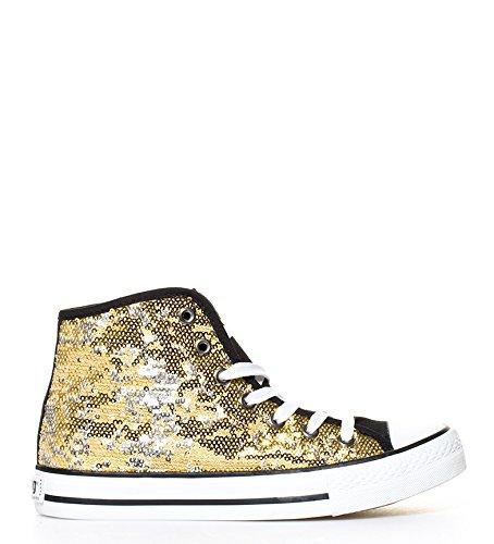 Mustang Nueva Colección - Zapatillas Trend High Chica oro - 13992 - Talla 40: Amazon.es: Zapatos y complementos