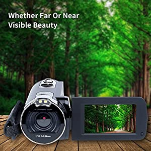 Digital Camera Camcorders Kimire HD Recorder 1080P 24 MP Megapixels 16X Powerful Digital Zoom Video Camcorder 2.7 Inch LCD Stabilization With 270 Degree Rotation Screen Camera Bag Lithium(312P-Black)