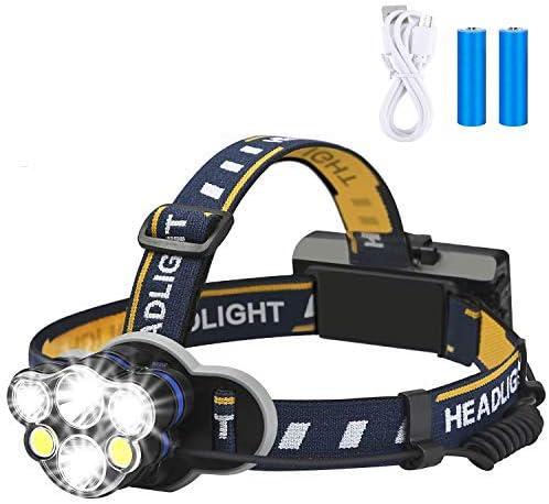 LED Headlamp USB Rechargeable Headlight Head Lamp Flashlight Camping Waterproof