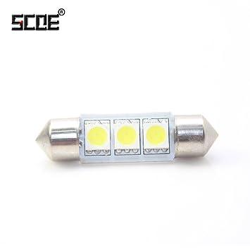 V Dc12 Scoe 36 Mm C5 3smd 6418 Haute Ampoule 5050 W Auto Led Lampe Y6yvg7Ibf