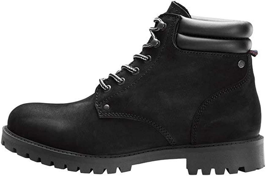 Jack & Jones Jfwstoke Nubuck Boot Mono Black Noos, Botas Clasicas Hombre