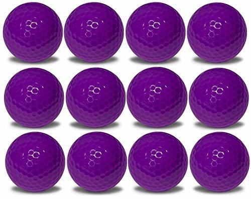 1 Dozen Purple Golf Balls Upload Your Logo or Text (Purple) ()