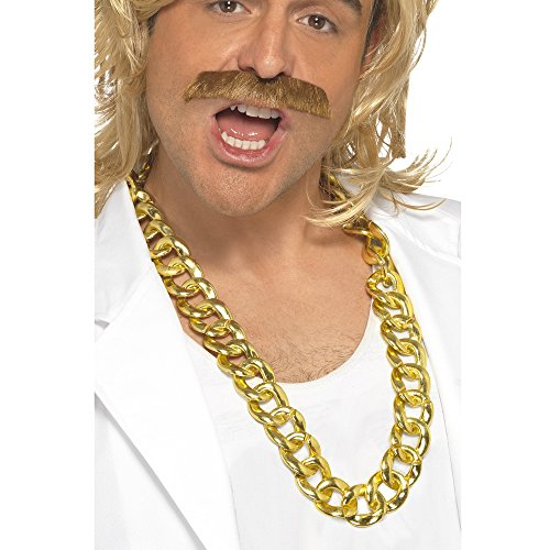 Gold Costume Men (Chunky Gold Necklace Costume Accessory)