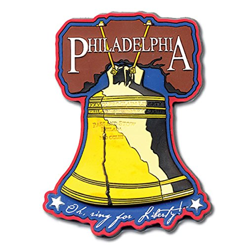 (The Postcard Factory City of Philadelphia Liberty Bell Rubber Magnet)