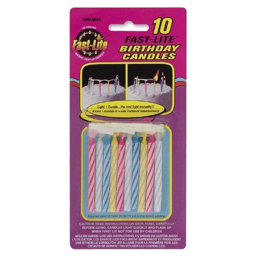 10 Fast Lite Birthday Candles