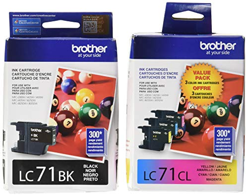 Brother LC71 Standard Yield Ink Cartridge Set (Brother Printer Cartridges Lc71)