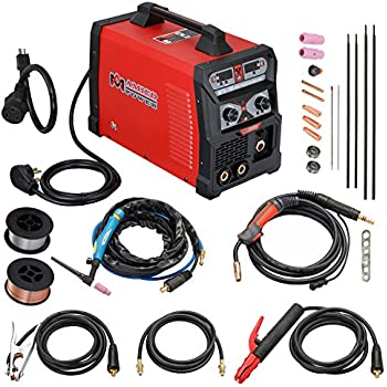 MTS-185, 185 Amp MIG TIG-Torch Stick Arc Combo Welder, Weld Aluminum(MIG) 110/230V Dual Voltage Welding New (MTS-185)
