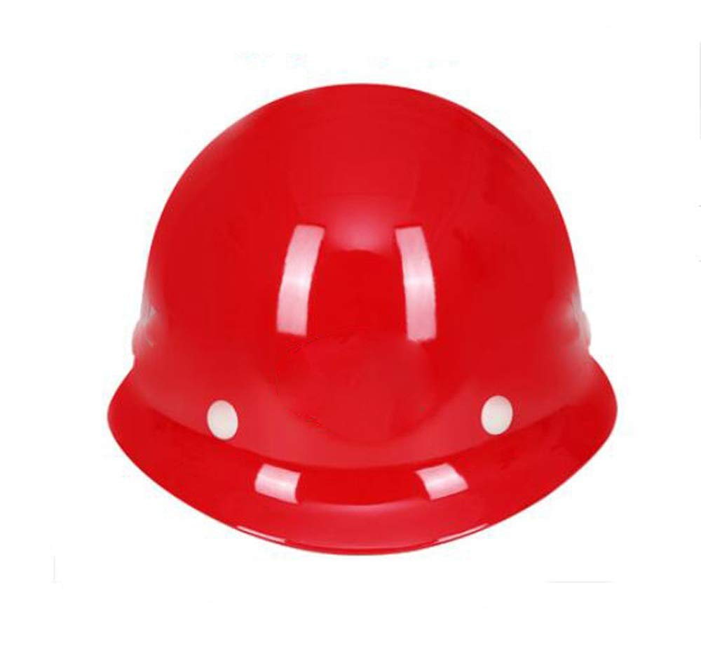WJS Glass steel Helmet Construction Site Outdoor Work Flood-proof High Temperature Insulation Helmet Multi-color Optional color : Blue