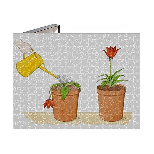 Media Storehouse 252 Piece Puzzle of Straight-stemmed red Flower Growing in Terracotta Pot, Identical (13558955) -