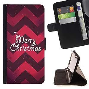 - Merry Christmas Tree Green Red Deer Snow/ Personalizada del estilo del dise???¡Ào de la PU Caso de encargo del cuero del tir????n del soporte d - Cao - For Samsung Galaxy S5 Mini, SM-G800
