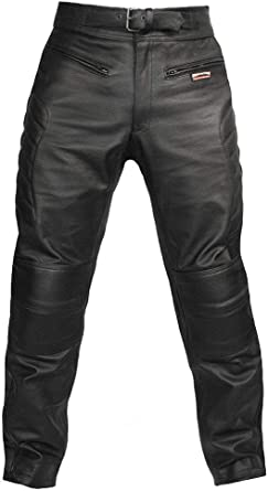 Skintan CE Armoured Mens Leather Motorcycle Trousers