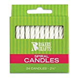 Oasis Supply Spiral Birthday Candles, 2.25-Inch, White