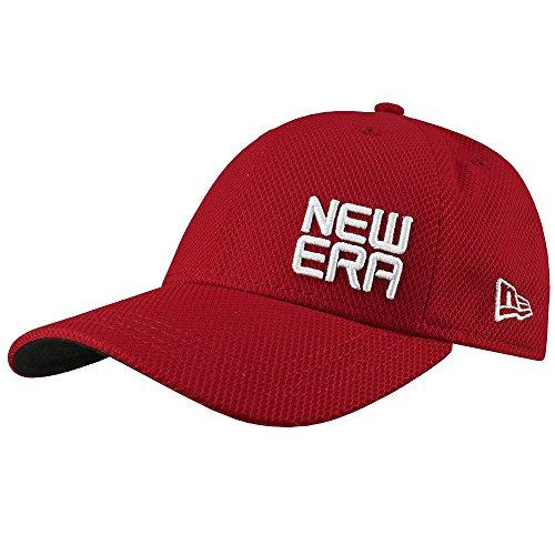 New Era Golf Contour Stacked Logo Adjustable Cap (Scarlet, One Size)