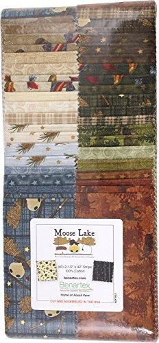 Cheryl Haynes Moose Lake Strip-pies 2.5-inch Fabric Quilting Strips Jelly Benartex STMLKPK