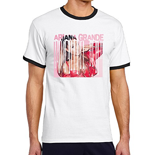 Jade Men's Two-toned Tshirts-Fashion Ariana Singer Grande American Actress Black Size - Frames American Coupon