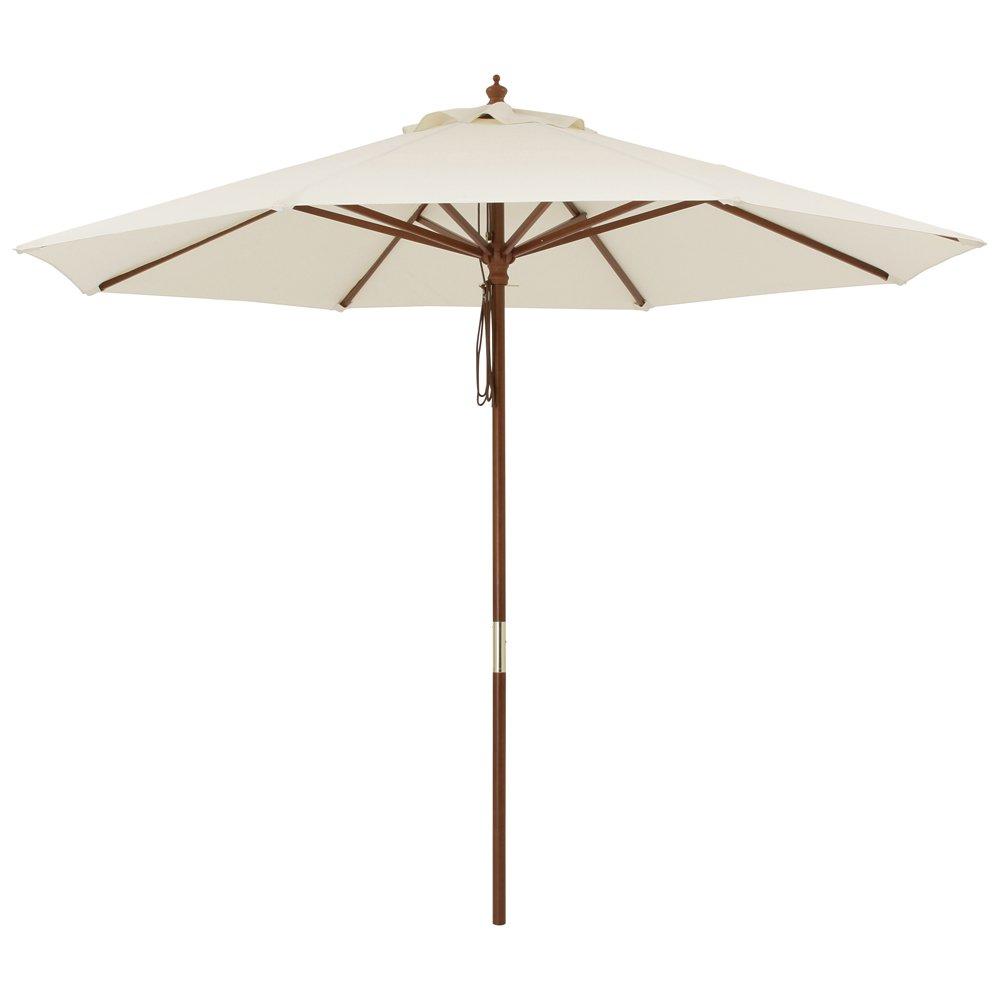 径210cm(ウッド支柱ガーデンパラソル) G46908(サイズはありません エ:ベージュ) B079B979D7 エ:ベージュ エ:ベージュ