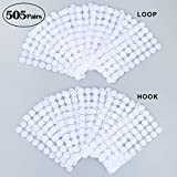"""Hook & Loop Sticky Dots 505 Pairs (1,010pcs) - 3/4"""" Diameter Double Sided Self Adhesive Dots Coins"""