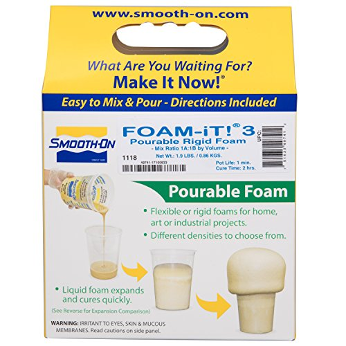 Rigid Foam - FOAM-IT! 3 - Pourable Rigid Foam - Parts A and B - Trial Unit - Not For Intended For Children - Adult Supervision Required - Ages 18+