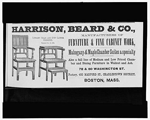 Photo: Advertisement,Harrison,Beard & Co,library chair,st...