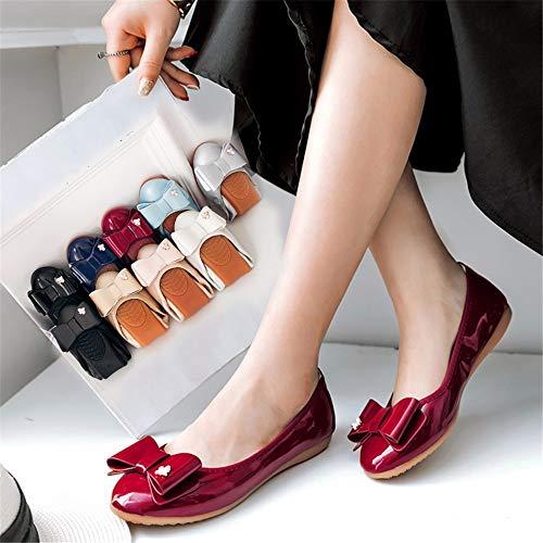 Las de de Zapatos Mujeres C Dulce de Ballet FLYRCX Las de Suave Zapatos y Arco cómodos Arco Charol Plegables portátiles Embarazadas de Trabajo Zapatos Zapatos Planos Mujeres E11wUBnq