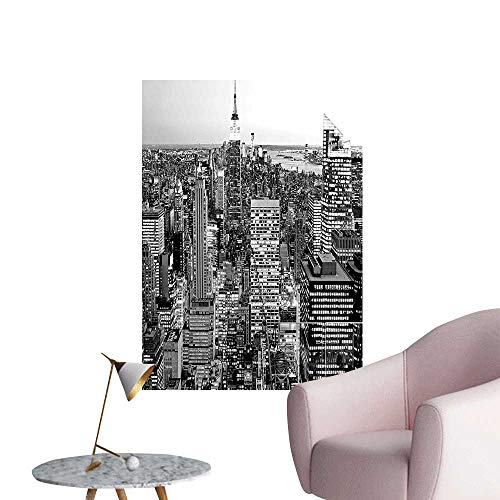 Wall Decor for Home Living Room Panorama Manhattan High Build gs City ument USA Black White Grey Safe Painted Wall Decoration,20