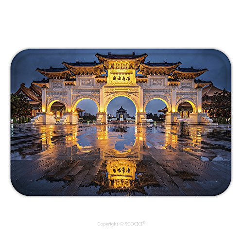 Flannel Microfiber Non-slip Rubber Backing Soft Absorbent Doormat Mat Rug Carpet Taipei Taiwan At Freedom Square_61853139 for Indoor/Outdoor/Bathroom/Kitchen/Workstations