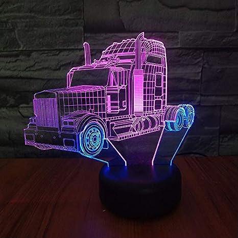 Invincible Big Truck 7 Colors Change Remote Control Timer 3D Night