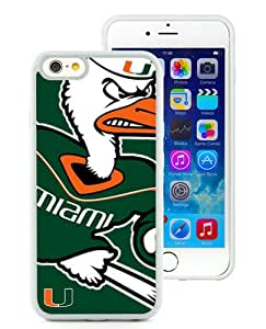 Popular iPhone 6/iPhone 6S TPU Skin Case ,NCAA Atlantic Coast Conference ACC Footballl Miami (FL) Hurricanes 3 White iPhone 6/iPhone 6S Screen Cover Case Hot Sale And Unique Designed Phone Case