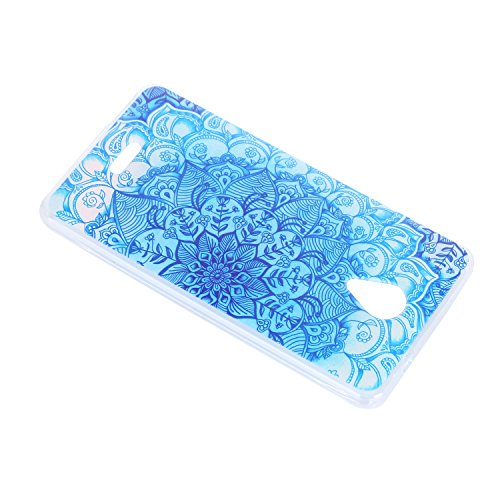 Lusee® Funda de silicona para Wiko Freddy 4G 5.0 pulgada Suave Cascara TPU Azul del viento nacional