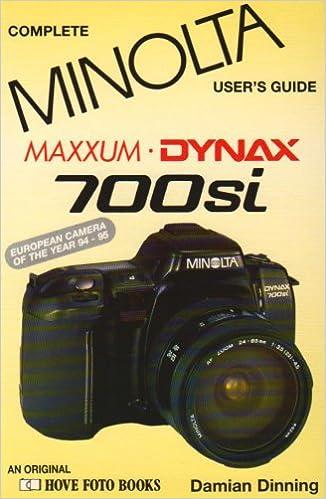 MINOLTA DYNAX MAXXUM 700SI Hove Users Guide Paperback February 1 1996