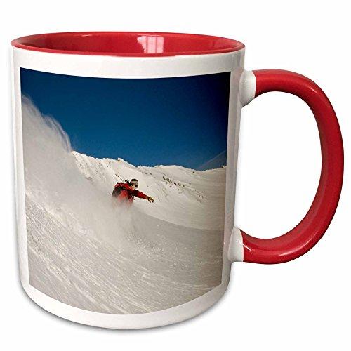3dRose 147244_5 Snowboarder Cardiff Fork Wasatch Utah USA-US Ceramic Mug, - Outlets Camelback