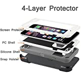 iPhone 6s Defender Case: LongRise 4-Layer [Drop Protection] [Shockproof] Touch ID Case With Built-in Screen Protector for iPhone 6 6s 4.7 inch (Gray)
