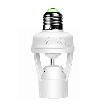 Ampoules Adaptateur E27 Réglable Et 360 °Temps Lumière Surenhap Pir De Douille Capteur Led Convertisseur D'ampoule Mouvement Avec qVSUzpM