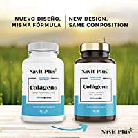 Colágeno hidrolizado con Acido Hialurónico | Vitamina C y Zinc | Código Nacional Farmacia 193336.2 | Suplemento para Articulaciones, piel y huesos fuertes | 100 cápsulas | Navit Plus: Amazon.es: Salud y cuidado personal