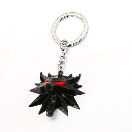 Amazon.com: FITIONS - Llavero de metal negro con diseño de ...