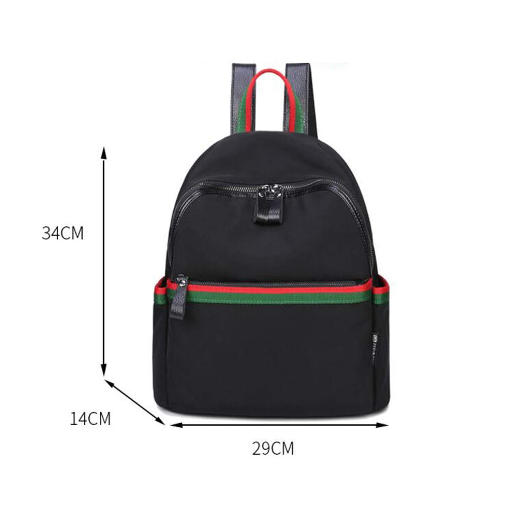 HLJ Creative Fashion Student Backpack Casual Personality Outdoor Travel Backpack Simple Backpack Color : Black, Size : 291434cm