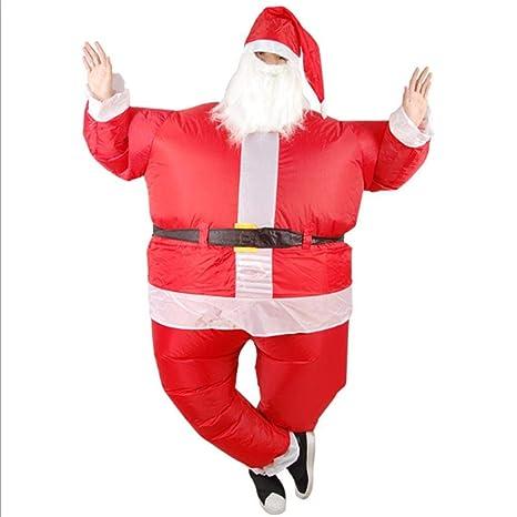 Traje inflable de Papá Noel de la Navidad, fiesta Cosplay ...