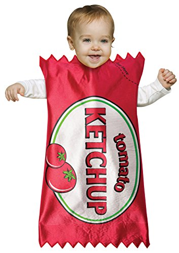 Baby Boy's Tomato Ketchup Bunting Funny Theme Infant Halloween Costume, Infant 3-9M Red/White -