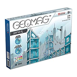 Geomag Pro L New York SKYLINE-174 pcs, GMR04, Multicoloured