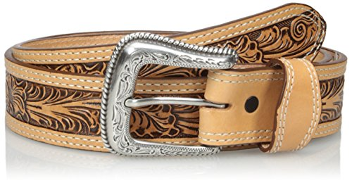 Nocona Belt Co. Men's Natural Mexican Floral Embose, 38